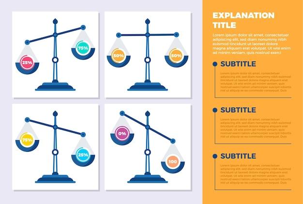 Saldo infographics sjabloon Gratis Vector
