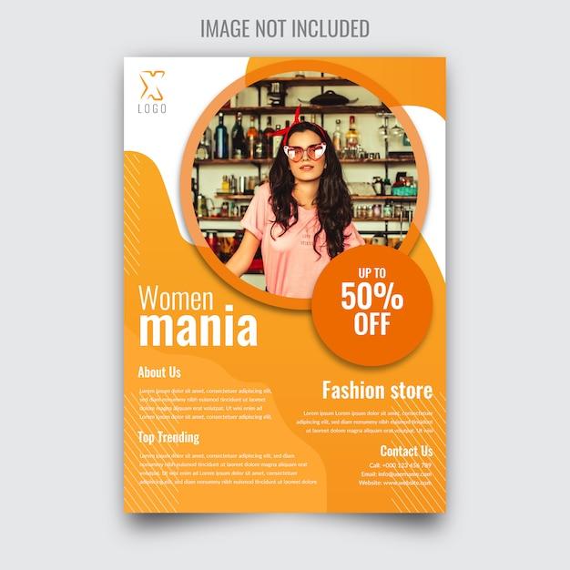 Sale flyer voor dames Premium Vector