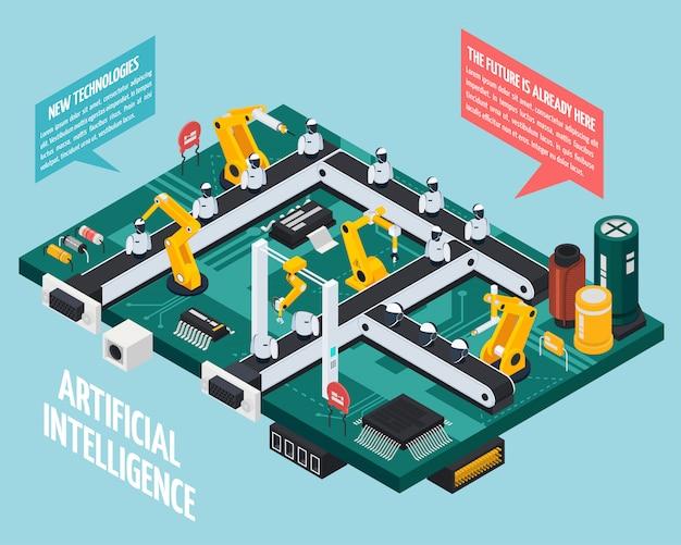 Samenstelling kunstmatige intelligentie Gratis Vector