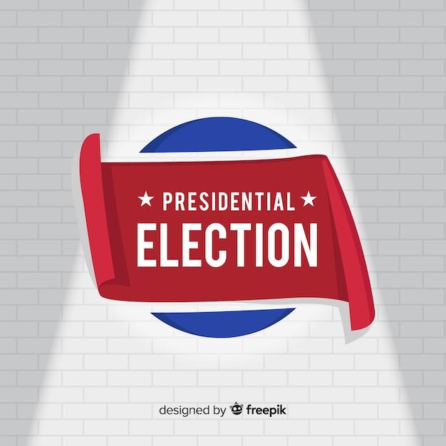 Samenstelling van presidentsverkiezingen met een plat ontwerp Gratis Vector