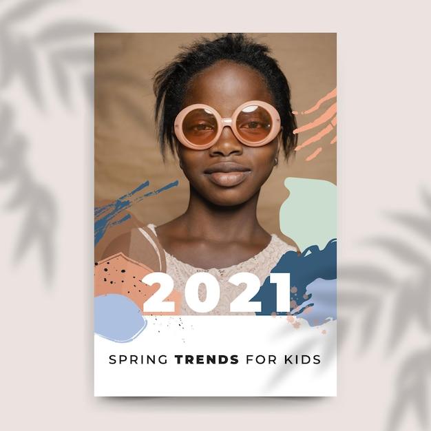 Samenvatting geschilderde kleurrijke mode blogpost Gratis Vector