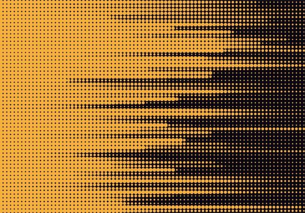 Samenvatting gestippelde gele en zwarte achtergrond Gratis Vector