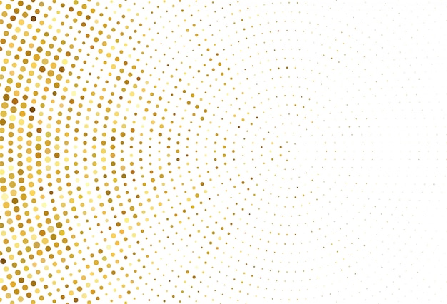 Samenvatting gestippelde gouden patroonachtergrond Gratis Vector