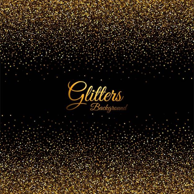 Samenvatting met gouden glitters textuur Gratis Vector