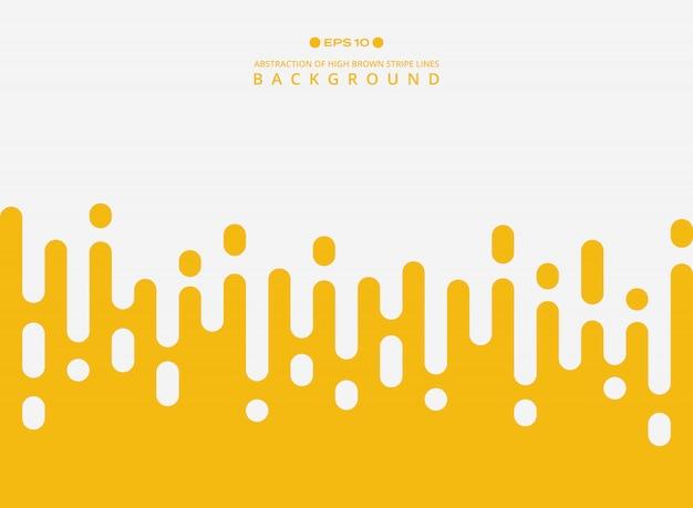 Samenvatting van de verse gele lijnen van het de lijnpatroon van de kleurenstreep. Premium Vector