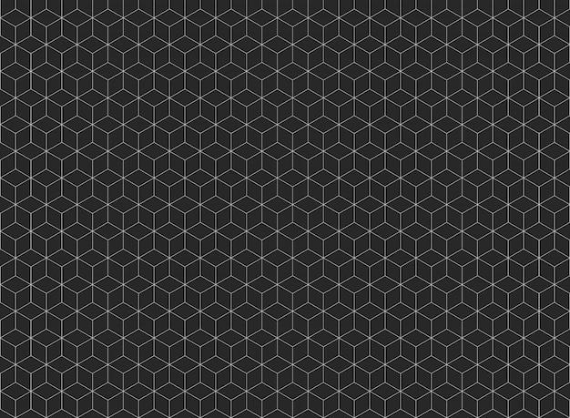 Samenvatting van de vijfhoekige achtergrond van het vormpatroon. Premium Vector