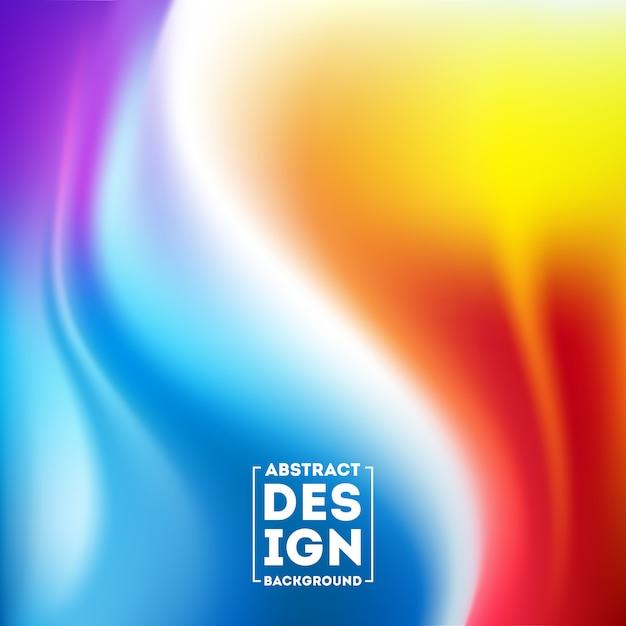 Samenvatting wazig verloopnet achtergrond in heldere kleurrijke glad Premium Vector