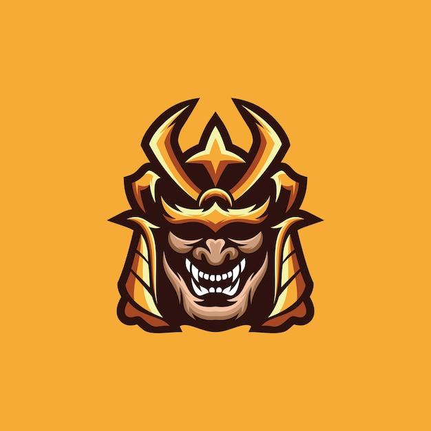 Samurai logo collectie Premium Vector