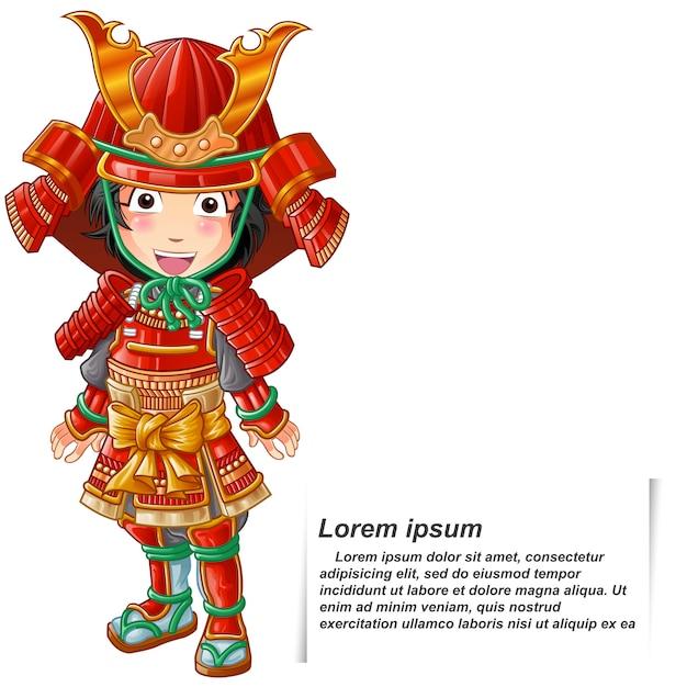 Samurai. Premium Vector