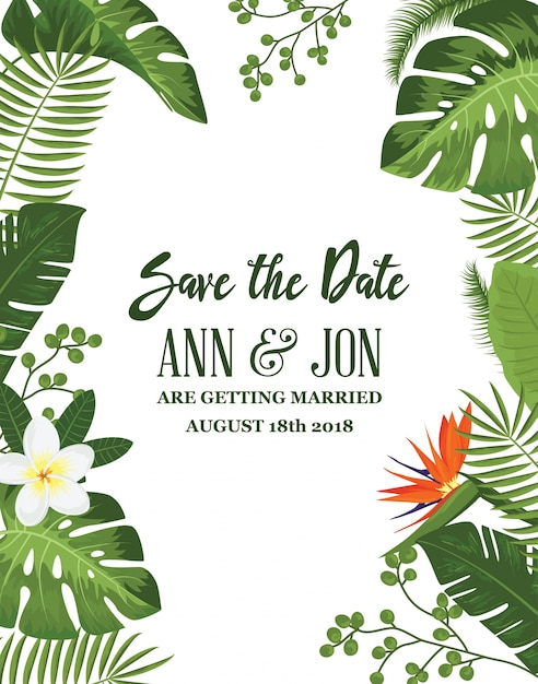 Save the Date Card Achtergrond Gratis Vector