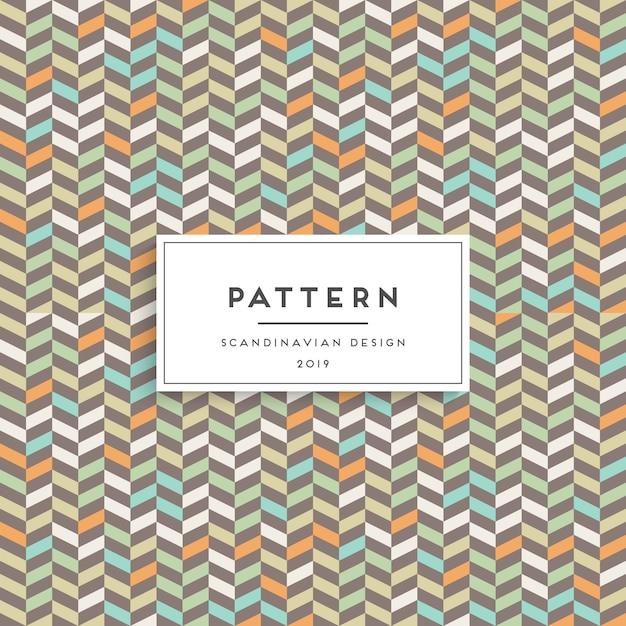 Scandinavisch naadloos patroon. ontwerp met stoffenprint Gratis Vector