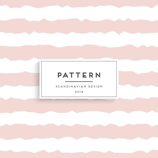 Scandinavisch naadloos patroon Gratis Vector