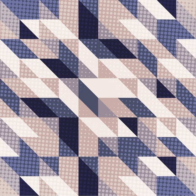 Scandinavische stijl achtergrond in blauwe en paarse tinten Gratis Vector