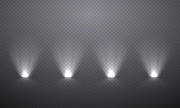 Scèneverlichting van onderaf, transparante effecten Premium Vector