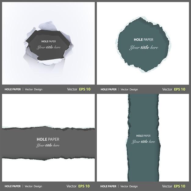 Schade collectie randblad set Gratis Vector