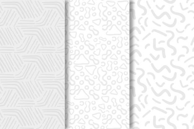 Schaduwen van witte lijnen naadloze patroon sjabloon Gratis Vector