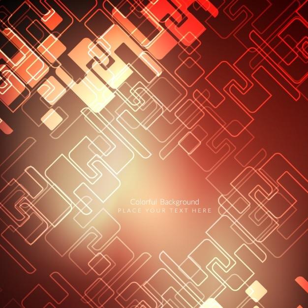 Schakeling op een rode achtergrond Gratis Vector