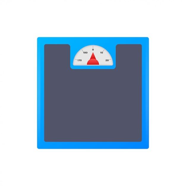 Schalen pictogram. weegschaal geïsoleerd Premium Vector