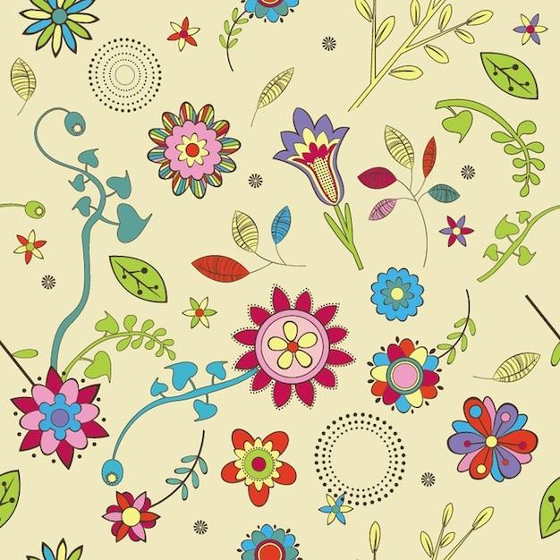 Schattig bloemen behang patroon vector gratis download - Behang van de jaren ...