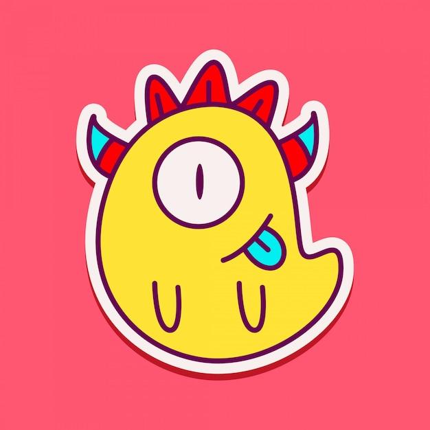 Schattig monster characterdesign karakter Premium Vector