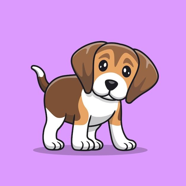 Schattige beagle puppy Premium Vector