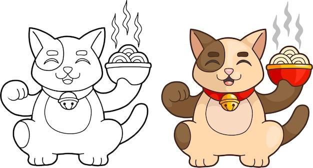 Schattige cartoon kat Premium Vector