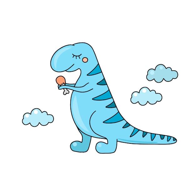 Schattige dinosaurus t rex Premium Vector