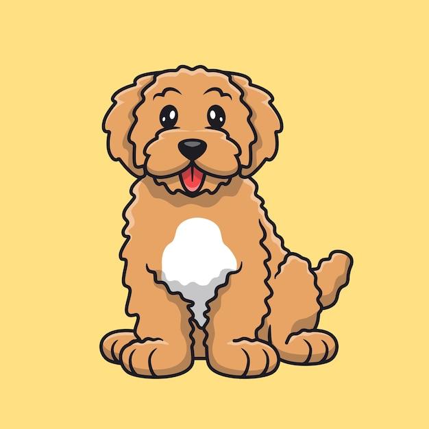 Schattige hond zijn tong uitsteekt Gratis Vector