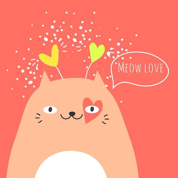 Schattige kat en tekst