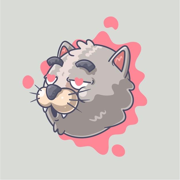 Schattige kat illustratie Premium Vector