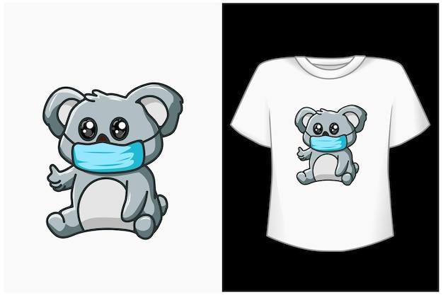 Schattige koala cartoon afbeelding Premium Vector