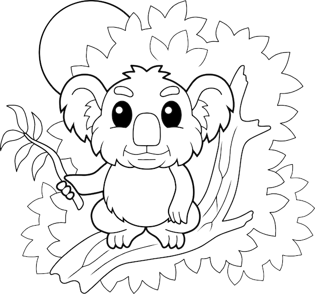 Schattige koala illustratie Premium Vector