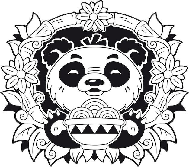 Schattige panda Premium Vector