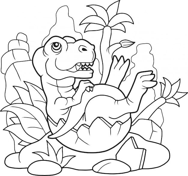 Schattige tyrannosaurus Premium Vector