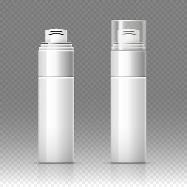 Scheerschuim cosmetische fles sproeier container Premium Vector