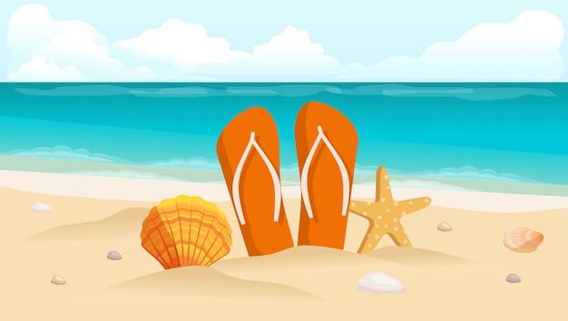, schelpen en samenstelling van schoeisel Premium Vector