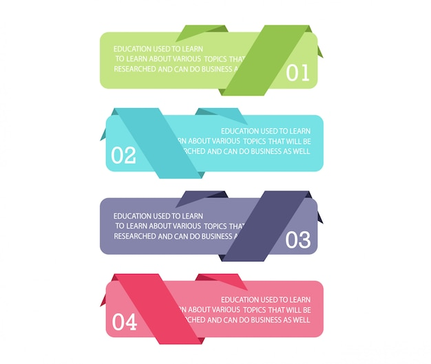 Schema voor onderwijs en bedrijfsleven gebruikt in het onderwijs en met drie opties Premium Vector