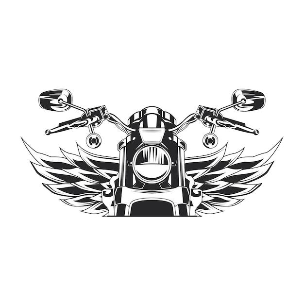 Schets moto illustratie Gratis Vector