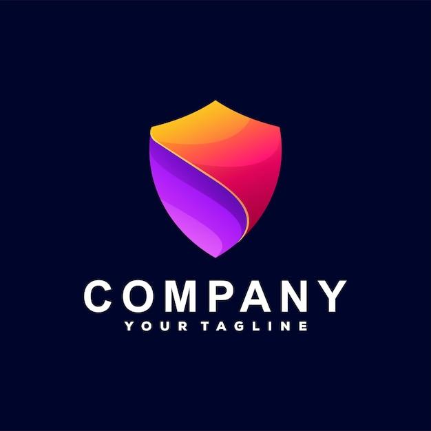 Schild kleurverloop logo Premium Vector