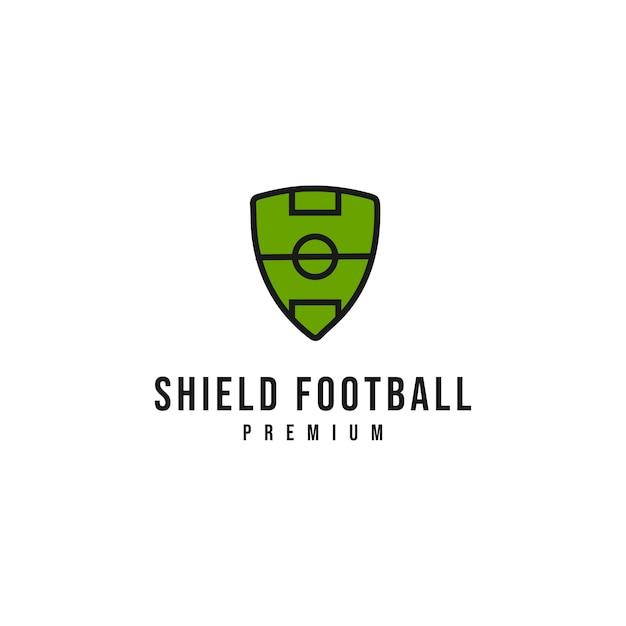 Schild voetbal logo Premium Vector