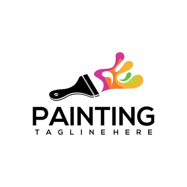 Schilderij logo Premium Vector