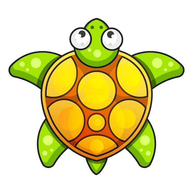 Schildpad-illustraties. vector illustratie Premium Vector