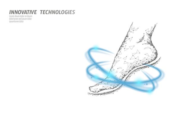 Schoenen technologie wetenschap fitness flexibiliteit. fitnes van de menselijke vrouw Premium Vector