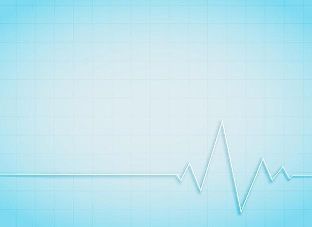 Schone medische en gezondheidszorg achtergrond met hartslag Gratis Vector