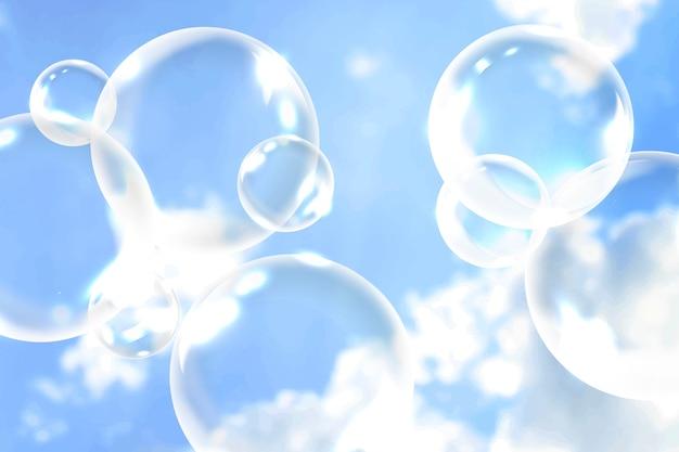 Schone zeepbellen Gratis Vector
