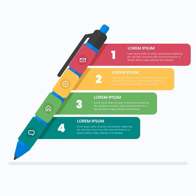 School infographics in plat ontwerp Gratis Vector