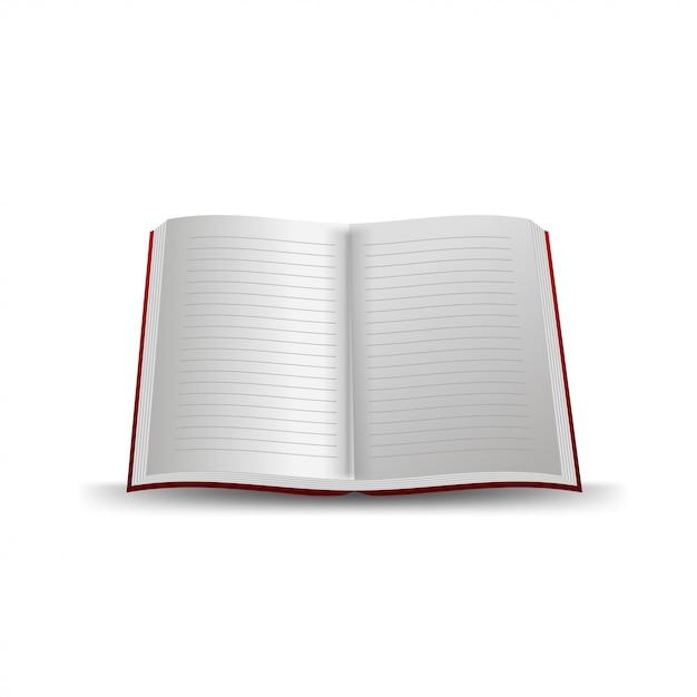 School notebook geïsoleerd Premium Vector