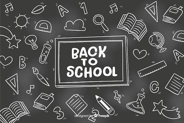 Schoolbord terug naar school achtergrond Gratis Vector