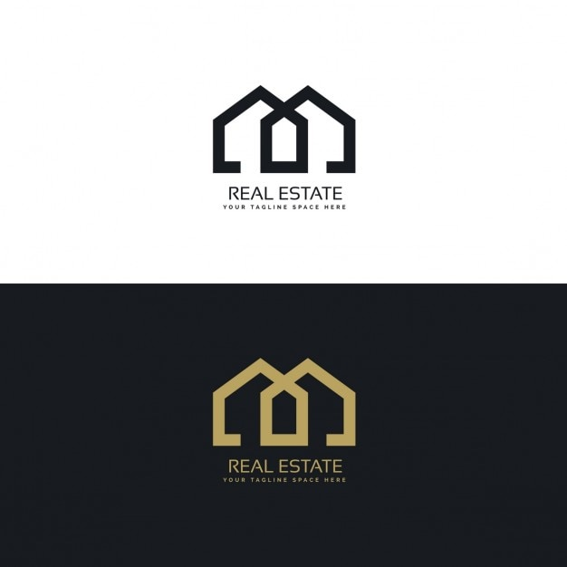 Schoon huis logo voor onroerend goed bedrijf vector for Mueblerias famosas