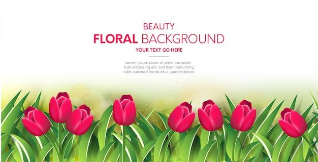 Schoonheid bloemenachtergrond Gratis Vector
